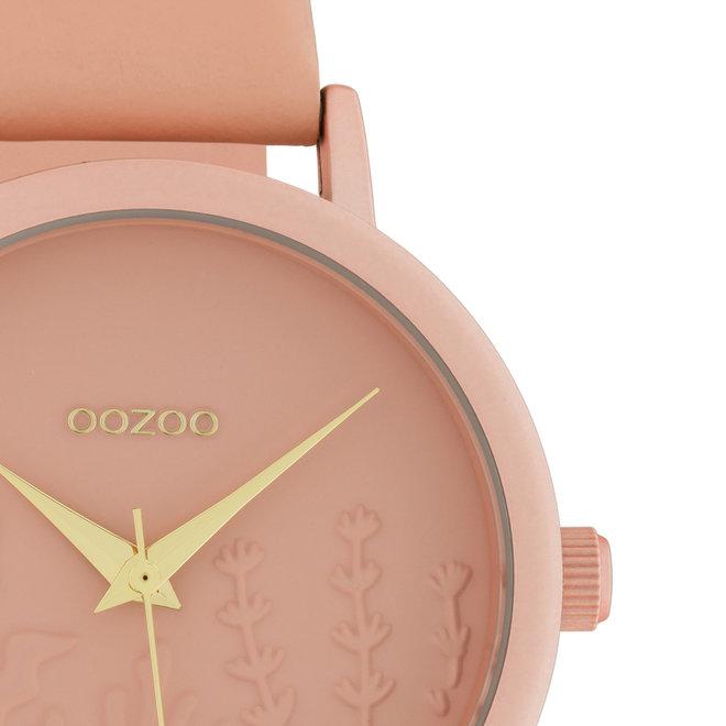 OOZOO Timepieces - Damen - Leder-Armband - Softpink/Softpink