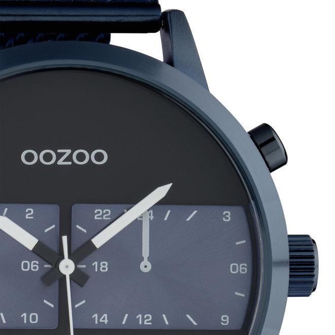 OOZOO Timepieces - C10511 - Herren - Edelstahl-Mesh-Armband -  Blau/Blau