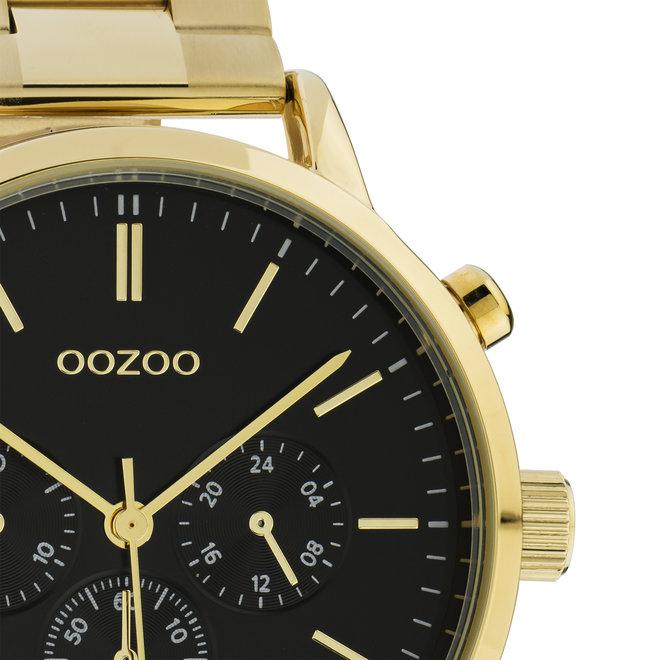 OOZOO Timepieces - C10548 - Unisex - Edelstahl-Glieder-Armband - Gold/Schwarz