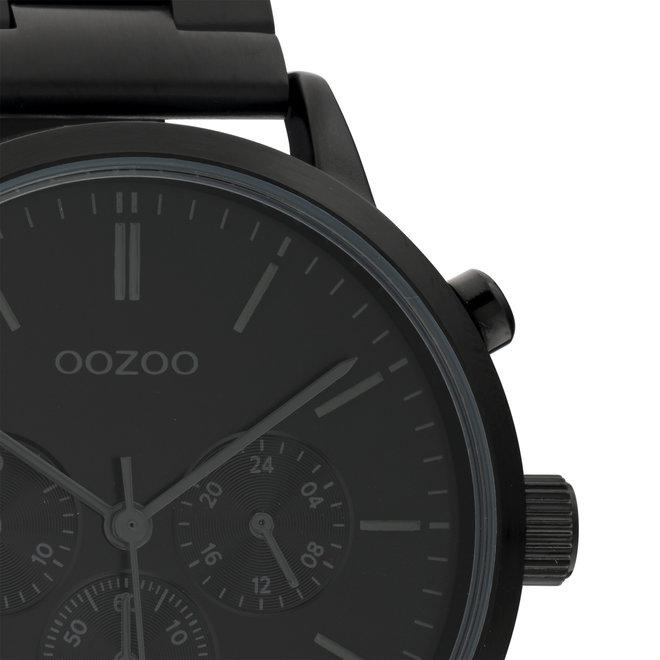 OOZOO Timepieces - C10549 - Unisex - Edelstahl-Glieder-Armband - Schwarz
