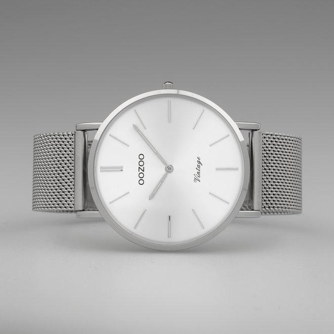 OOZOO Vintage - C9904 - Unisex - Edelstahl-Mesh-Armband - Silber/Silber