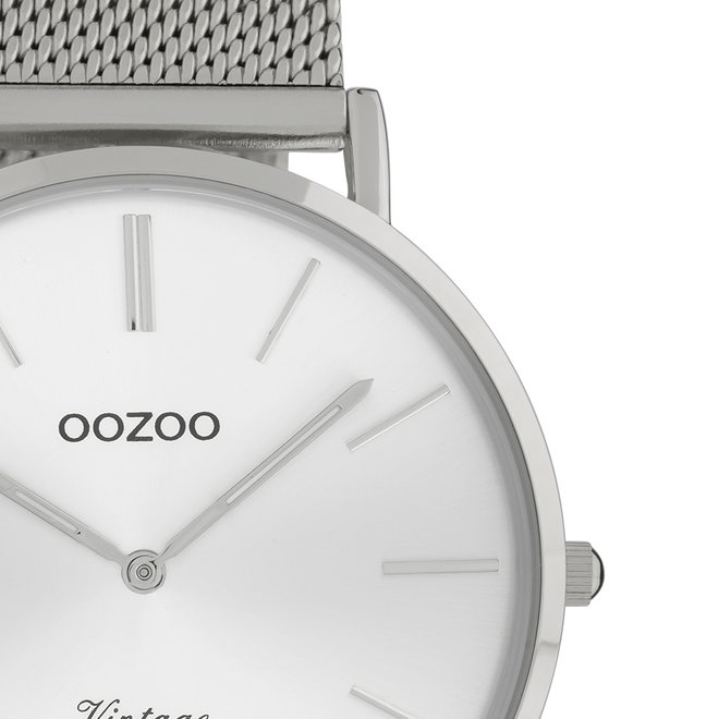OOZOO Vintage - C9905 - Unisex - Edelstahl-Mesh-Armband - Silber/Silber
