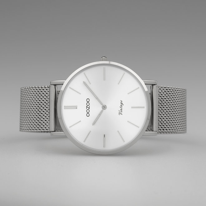 OOZOO Vintage - C9906 - Unisex - Edelstahl-Mesh-Armband - Silber/Silber