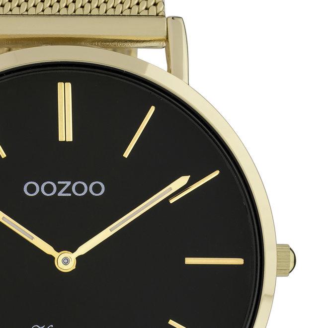 OOZOO Vintage - C9912 - Unisex - Edelstahl-Mesh-Armband - Gold/Schwarz