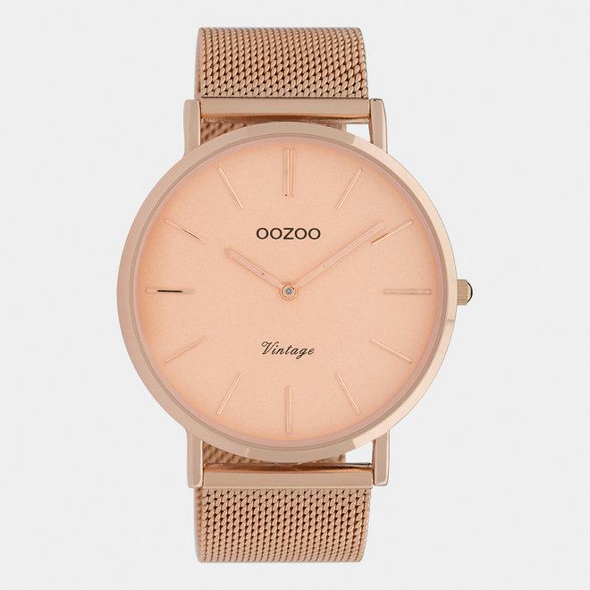 OOZOO Vintage - C9920 - Unisex - Edelstahl-Mesh-Armband - Roségold