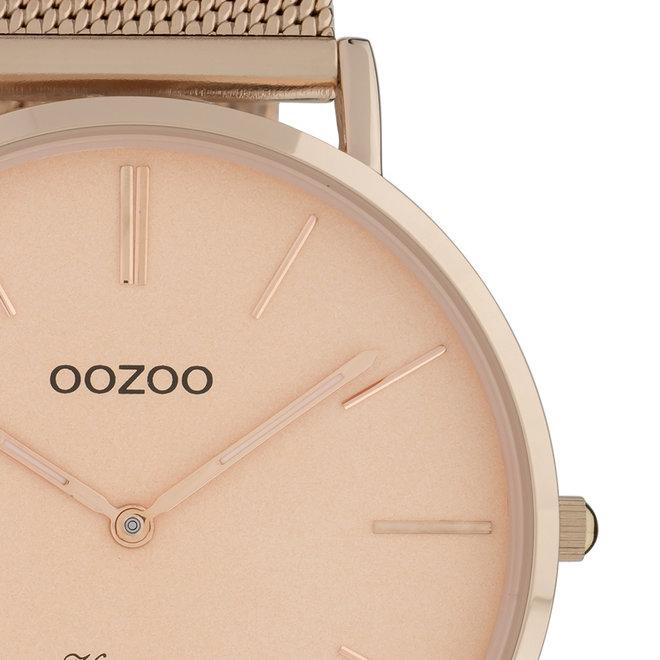 OOZOO Vintage - Unisex - Edelstahl-Mesh-Armband - Roségold
