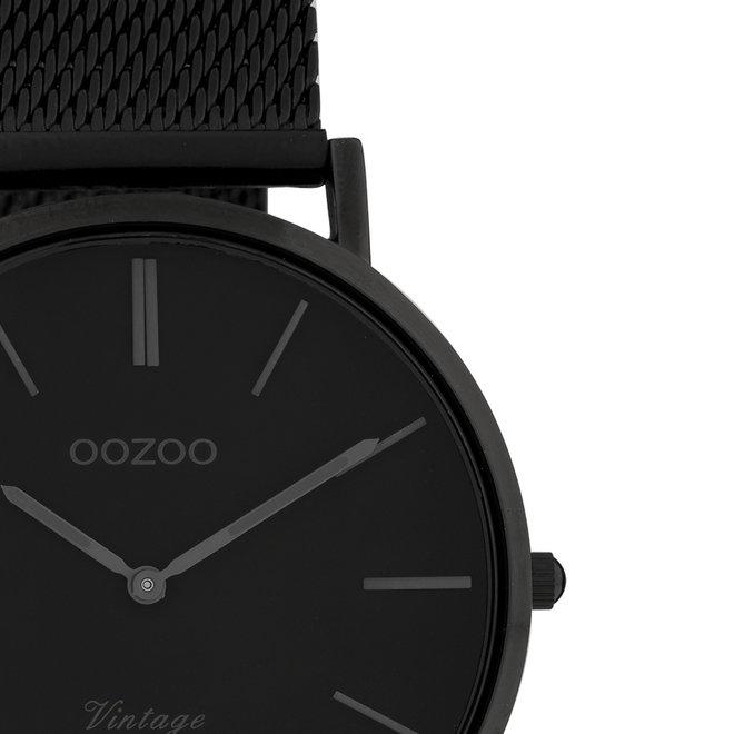 OOZOO Vintage - C9934 - Unisex - Edelstahl-Mesh-Armband - Schwarz