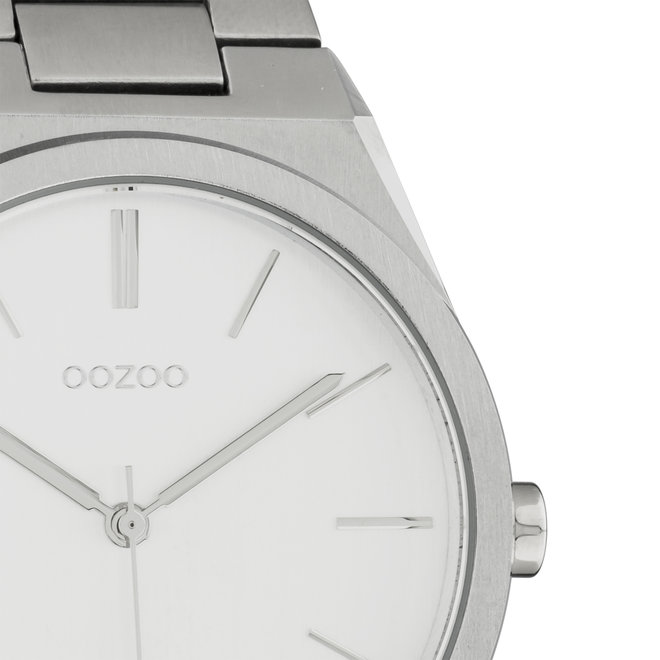 OOZOO Timepieces - Unisex - Edelstahl-Glieder-Armband - Silber/Silber