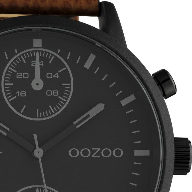 OOZOO Timepieces - C10533 - Herren - Leder-Armband - Braun/Schwarz