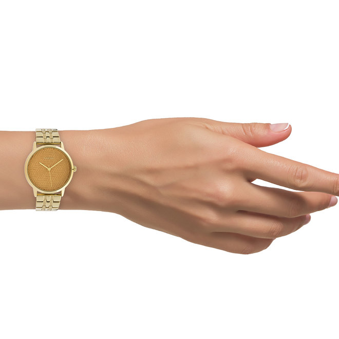 OOZOO Timepieces - C10557 - Damen - Edelstahl-Glieder-Armband - Gold/Gold