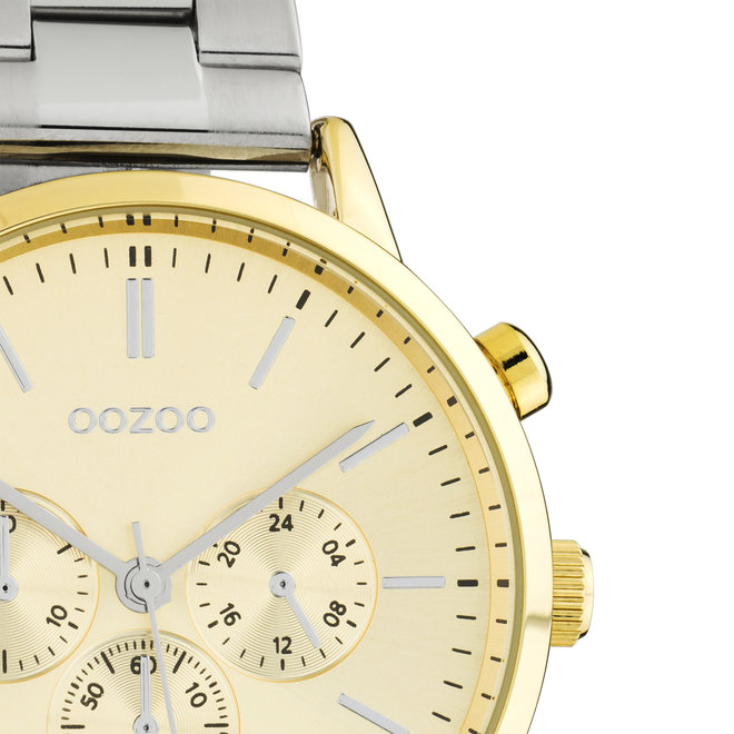 OOZOO Timepieces - C10562 - Unisex - Edelstahl-Glieder-Armband - Silber/Gold