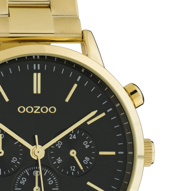OOZOO Timepieces - C10563 - Unisex - Edelstahl-Glieder-Armband - Gold/Schwarz