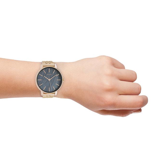 OOZOO Timepieces - Unisex - Edelstahl-Glieder-Armband - Roségold/Roségold