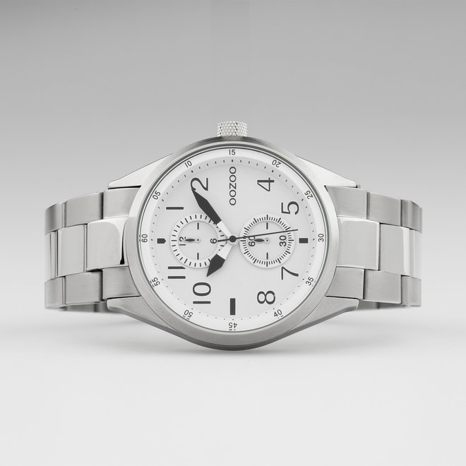 OOZOO Timepieces - C10630 -  Unisex - Edelstahl-Glieder-Armband - Silber