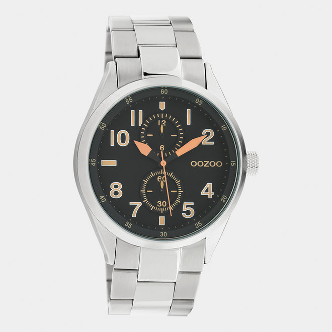 OOZOO Timepieces - C10634 - Unisex - Edelstahl-Glieder-Armband - Silber