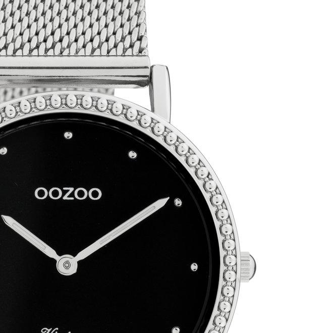 OOZOO Vintage - C20052 - Damen - Edelstahl-Mesh-Armband – Silber