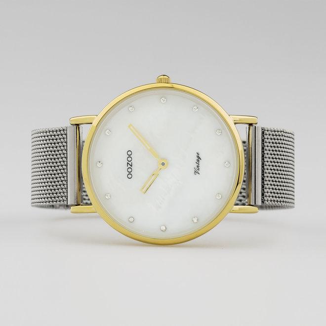 C20115 - Unisex - Edelstahl-Mesh-Armband – Silber/Gold