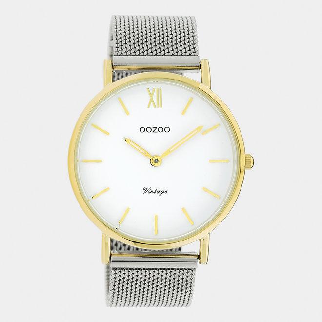 OOZOO Vintage - C20116 - Unisex - Edelstahl-Mesh-Armband – Silber/Gold