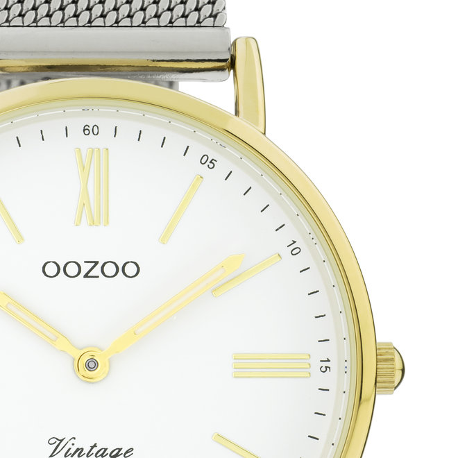 OOZOO Vintage - C20118 - Unisex - Edelstahl-Mesh-Armband – Silber/Gold
