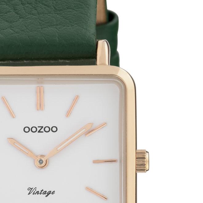 OOZOO Vintage - Damen - Leder-Armband - Grün/Roségold