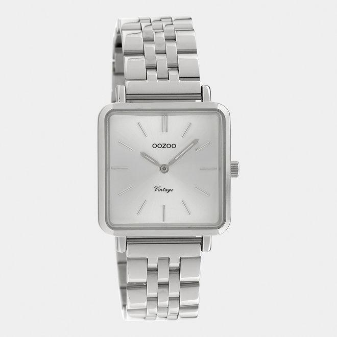 OOZOO Vintage - C9950 - Damen - Edelstahl-Glieder-Armband - Silber