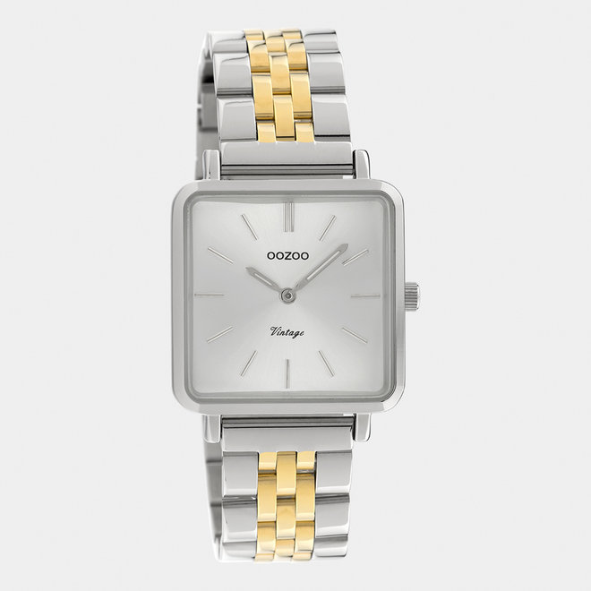 OOZOO Vintage - C9952 - Damen - Edelstahl-Glieder-Armband - Silber/Gold