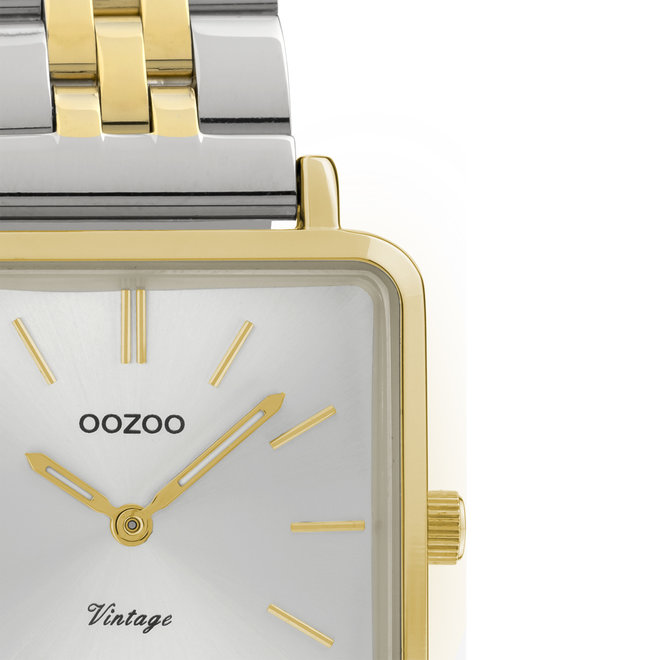 OOZOO Vintage - C9953 - Damen - Edelstahl-Glieder-Armband - Gold/Silber