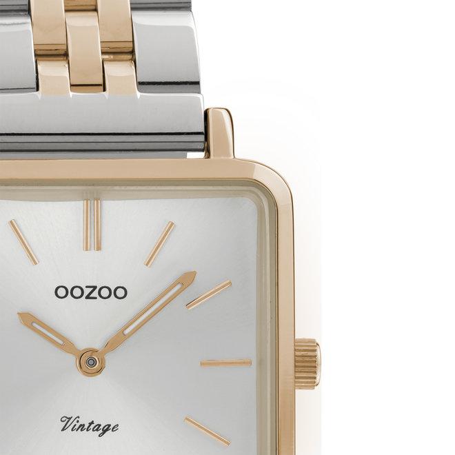 OOZOO Vintage - C9954 - Damen - Edelstahl-Glieder-Armband - Roségold/Silber