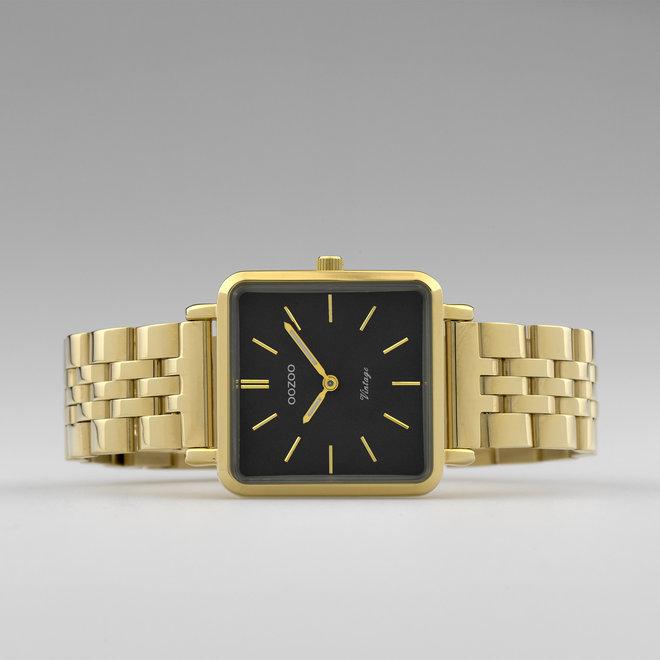 OOZOO Vintage - C9957 - Damen - Edelstahl-Glieder-Armband - Gold/Schwarz