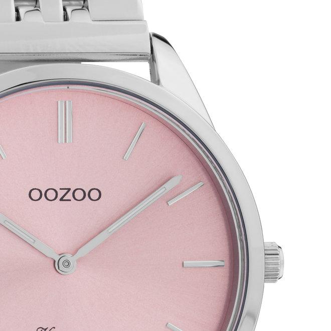 OOZOO Vintage - C9982 - Unisex - Edelstahl-Armband - Silber/Rosa