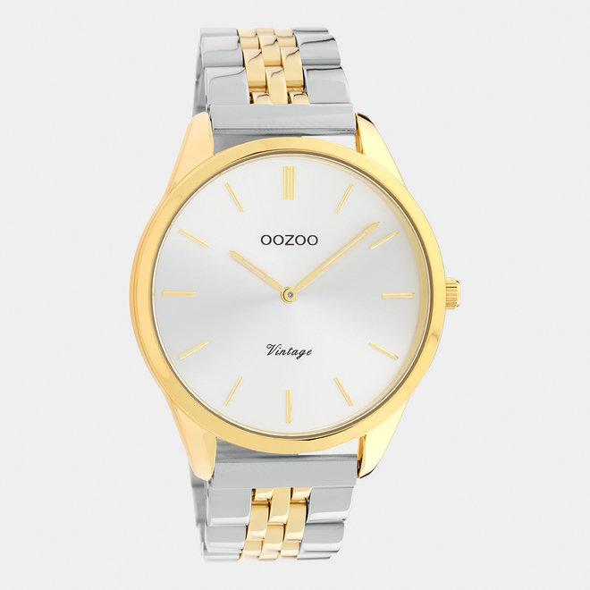 OOZOO Vintage - C9984 - Damen - Edelstahl-Armband - Bicolor/Silber