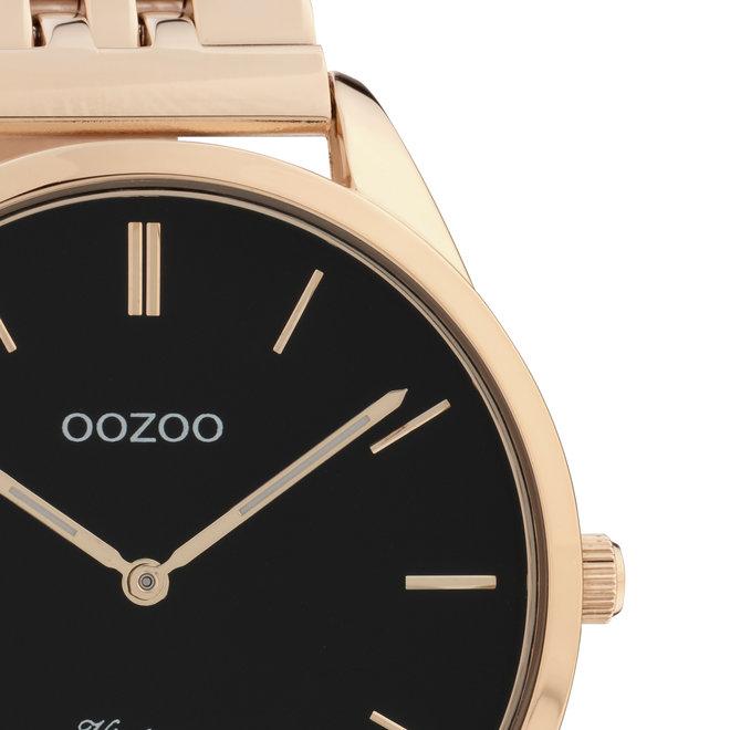 OOZOO Vintage - C9989 - Damen - Edelstahl-Armband - Roségold/Schwarz