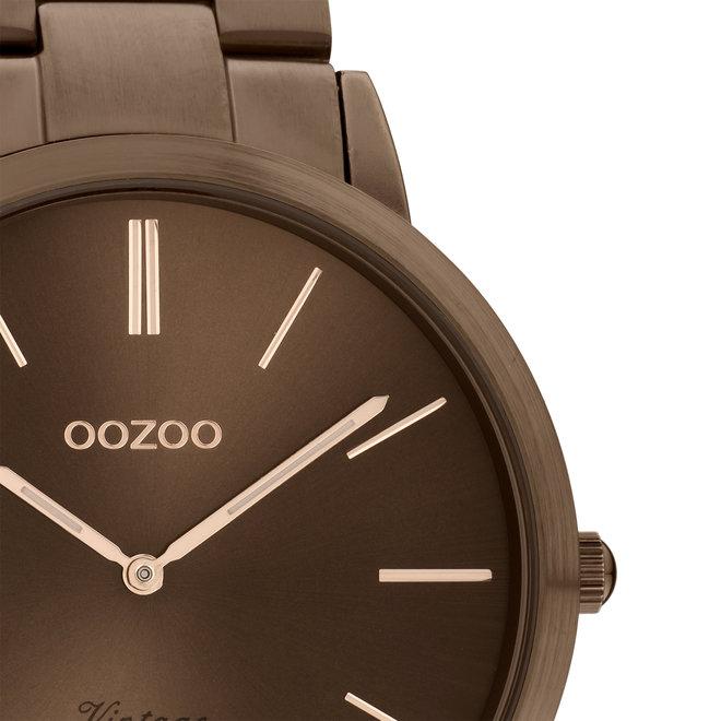 OOZOO Vintage - C20103 - Unisex - Edelstahl-Armband - Braun