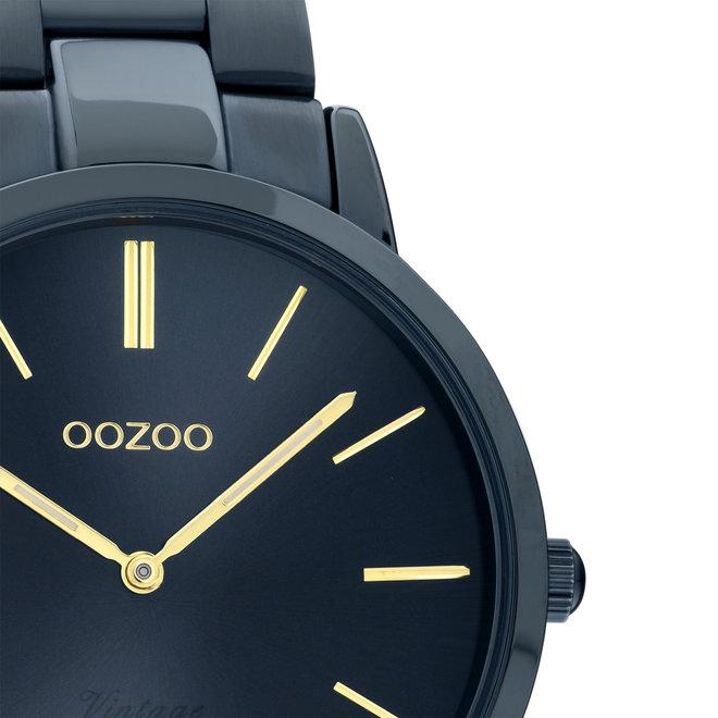 OOZOO Vintage - C20105 - Unisex - Edelstahl-Armband - Dunkelblau