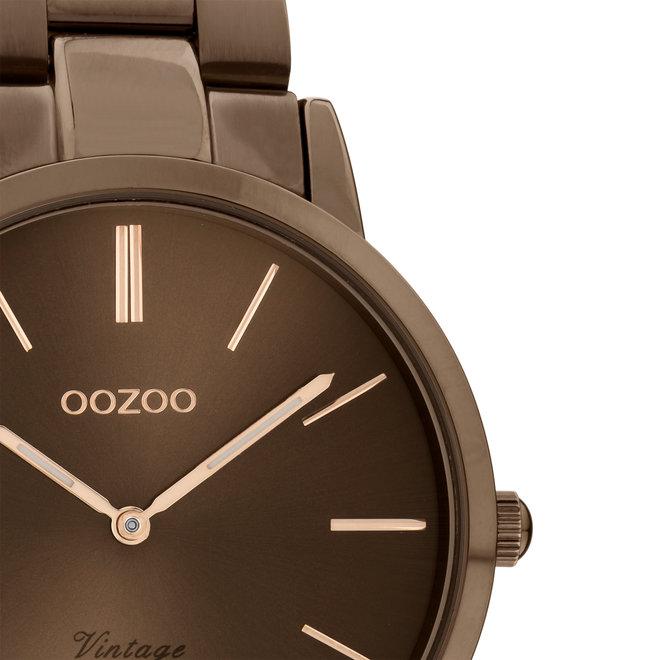OOZOO Vintage - C20106 - Damen - Edelstahl-Armband - Braun