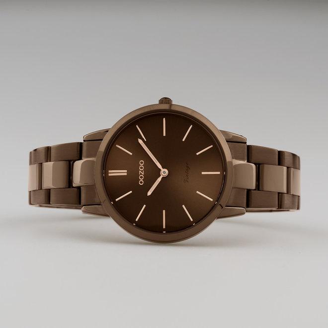 OOZOO Vintage - C20109 - Damen - Edelstahl-Armband - Braun