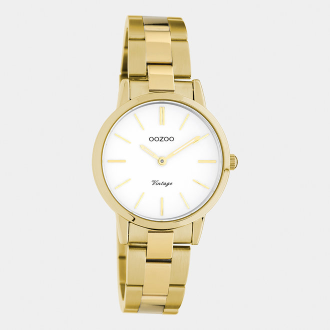 OOZOO Vintage - C20113 - Damen - Edelstahl-Armband - Gold/Weiß