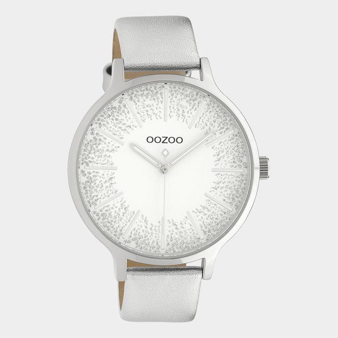 OOZOO Timepieces - Damen - Leder-Armband - Silber/Silber