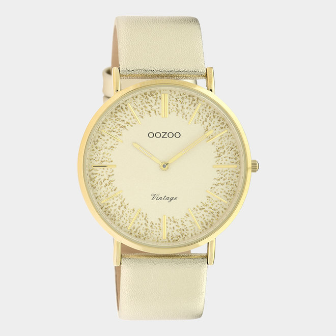 OOZOO Vintage - C20126 - Damen - Leder-Armband - Gold