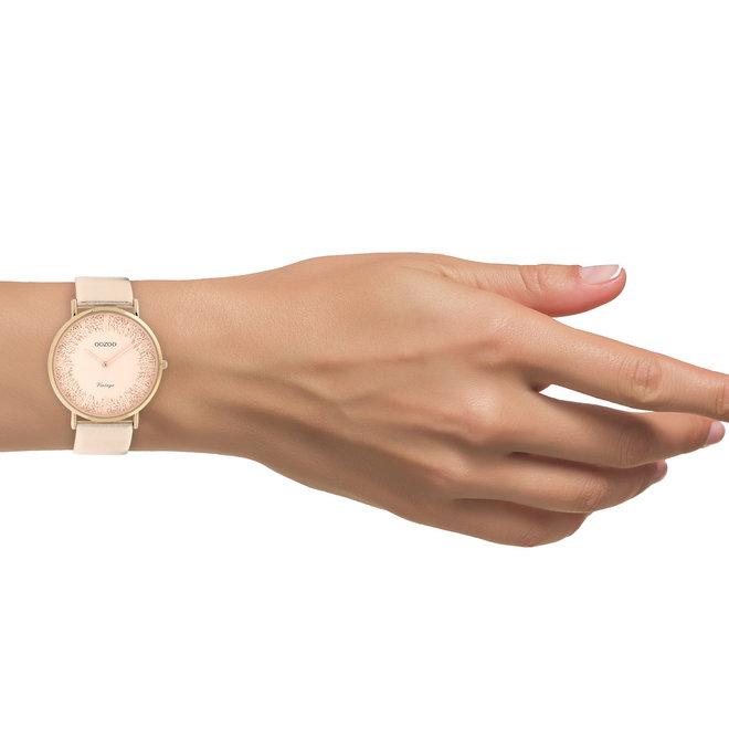 OOZOO Vintage - C20127 - Damen - Leder-Armband - Roségold