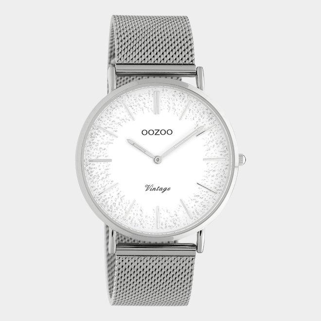 OOZOO Vintage - C20133 - Damen - Edelstahl-Mesh-Armband – Silber/Silber