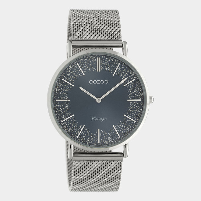 OOZOO Vintage - C20134 - Damen - Edelstahl-Mesh-Armband – Silber/Silber