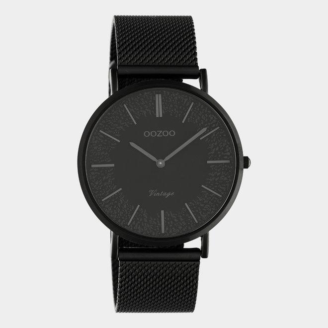 OOZOO Vintage - C20144 - Unisex - Edelstahl-Mesh-Armband – Schwarz
