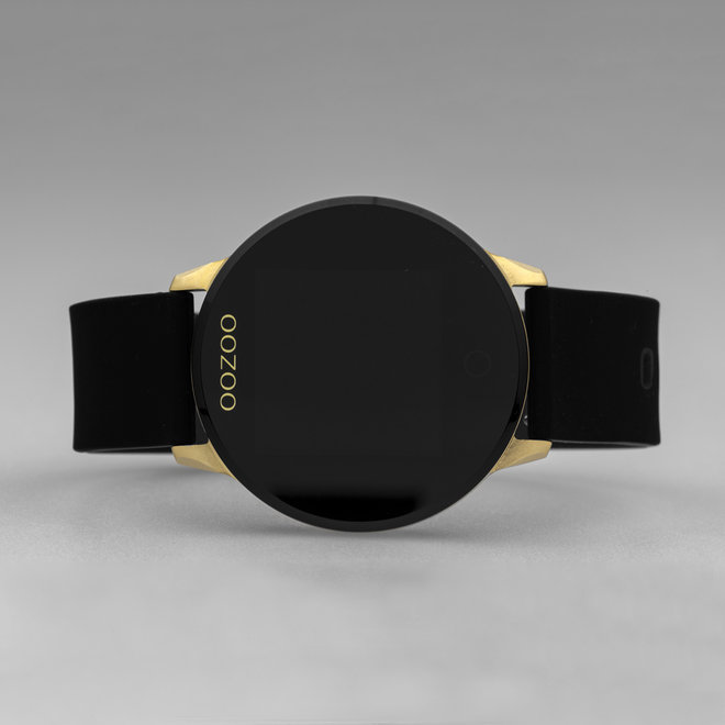 OOZOO Smartwatches - Unisex - Silikon-Armband - Schwarz/Gold