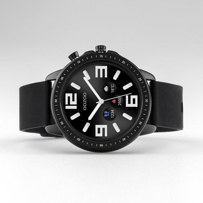 OOZOO Smartwatches - Unisex - Silikon-Armband - Schwarz