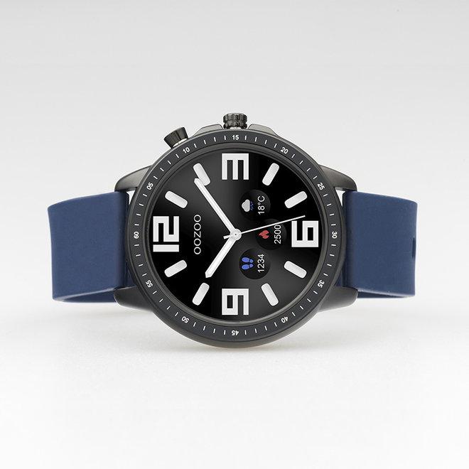 OOZOO Smartwatches - Unisex - Silikon-Armband - Blau/Schwarz
