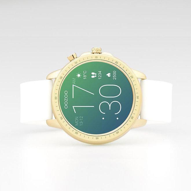 OOZOO Smartwatches - Unisex - Silikon-Armband - Weiß/Gold