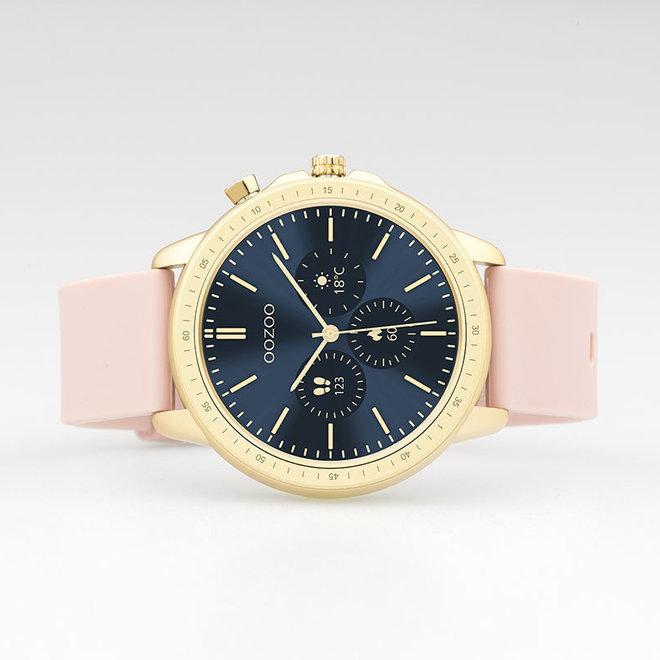 OOZOO Smartwatches - Unisex - Silikon-Armband - Rosa/Gold