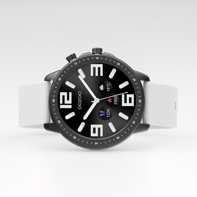 OOZOO Smartwatches - Unisex - Silikon-Armband - Steingrau/Schwarz