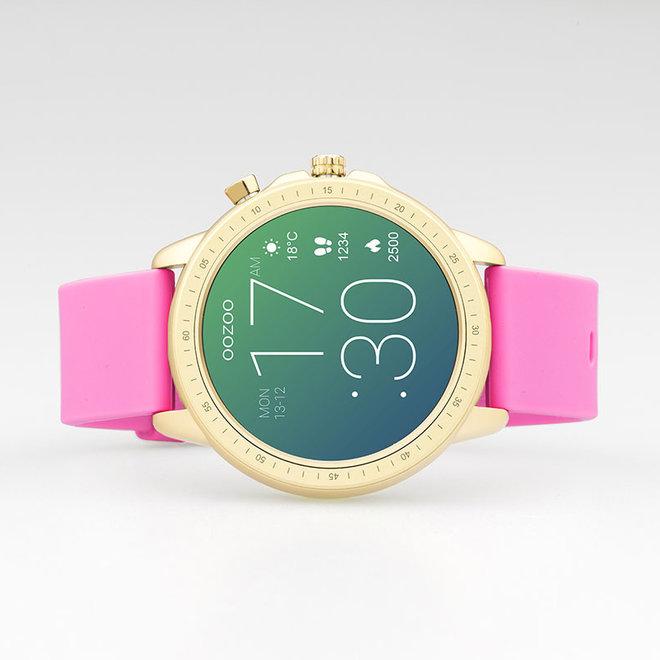 OOZOO Smartwatches - Unisex - Silikon-Armband -Pink/Gold